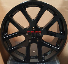 "22"" SRT10 Style Wheels Gloss Black Rims Fit Dodge RAM 1500 Durango Dakota Sale"