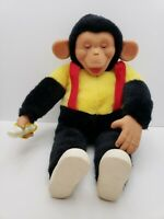 "Vintage Rubber Face Plush Monkey Banana Mr Bim Zip Zippy Zim chimpanzee 18"" RARE"