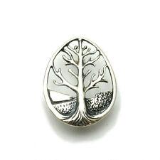 Echte Sterling Silber Brosche Lebensbaum massiv punziert 925 handgefertigt