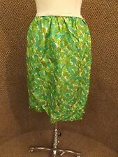 Rare Vtg 60s NEW Simonette et Fabiani Paris Green Floral SILK Half Slip Womens L