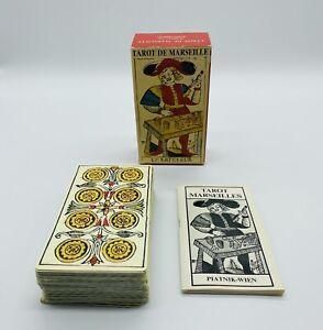 Tarot De Marseille Piatnik Vienne von 1984 - Retro Tarot 78 Karten Vintage