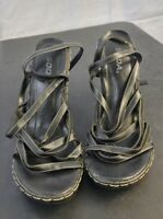 Soda Womens Heels Strappy Black Chunky Heel Size 8.5-9? US