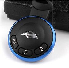 Schlüsselanhänger Key Trim Ring Keyring Aluminium für Mini Cooper R series Blue