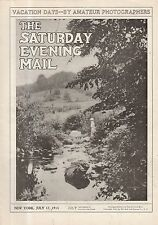 1915 Saturday Evening Mail July 17-Newsboys; U.S. Doctors & Nurses go to Serbia