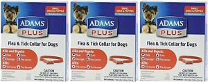 Adams Plus Flea & Tick Collar for Small Dogs & Puppies 3-Pack