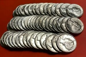 (1) Uncirculated Mercury Dime 90% Silver Brilliant Uncirculated Dimes 1935-1945