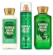 3 Bath and & Body Works Vanilla Bean Noel Lotion,Wash Fine Fragrance Mist Spray