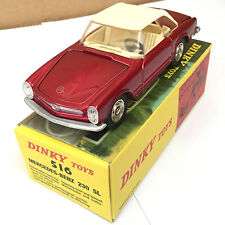 ATLAS 1/43 DINKY TOYS 516 Mercedes Benz 230 SL Rouge ALLOY DIECAST CAR MODEL