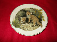 WEDGWOOD PLATE THE FOX THE BABY ANIMAL COLLECTION