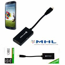 MHL Micro USB to HDMI Cable Adapter Samsung Galaxy S3 S4 S5 Note 2 Tab3 For HDT