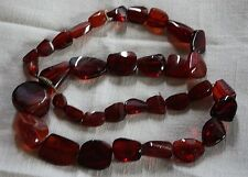 Antiques Red  Amber Necklace Very Rare   Deep Rich Cherry
