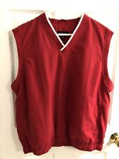 Lands End golf vest - Size Large - Red - Excellent Condition
