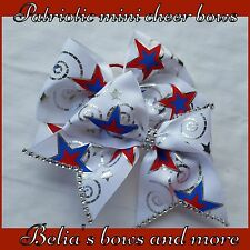 Stars...Patriotic Mini cheer style hair bows pigtails
