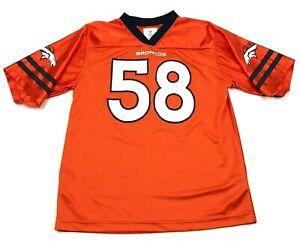NFL Von Miller Denver Broncos Football Jersey Youth Size XXL 18 Orange Blue Boys