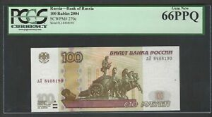 Russia 100 Rubles 2004 P270c Uncirculated Graded 66