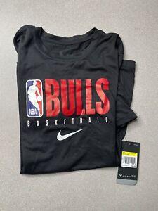 Chicago Bulls Nike NBA Authentics Nike Tee Short Sleeve Shirt Men's Black SMALL