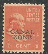 U.S. Possession Canal Zone stamp scott 118 - 1/2 cent Franklin issue - mnh - #10