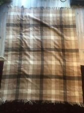 Vintage Marshall Field & Company Shetland Wool Throw Blanket Scotland