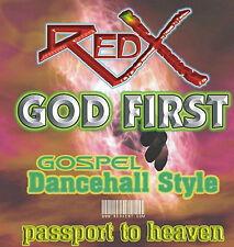 RED-X  SOUND  GOD FIRST GOSPEL/DANCEHALL   REGGAE MIX CD