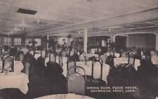 Vintage POSTCARD c1930-50 Dining Room Pease House SAYBROOK POINT, CT 14976