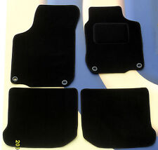 VW BORA RHD 1999 - 2006 BLACK CARPET CAR FLOOR MATS WITH 4 OVAL CLIPS B