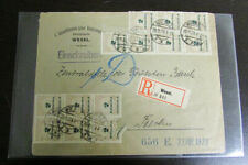 German 1923 Advertising Cover Regstrd 19 Stamps to Berlin Rare