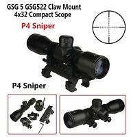 4X32 Compact Tactical Scope P4 Sniper Tactical MP5 HK G3 Scope Mount