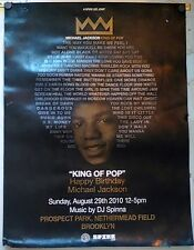 "Michael Jackson "" King of Pop "" Birthday Party Poster"