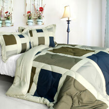 [Amorous Feelings] Quilted Patchwork Down Alternative Comforter Set (Twin Size)