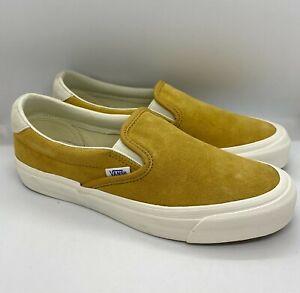 Vans Mens OG Slip-On 59 LX Shoes - Honey Mustard - [VN0A38FZQM7]