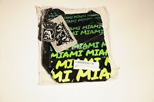 ARKASH MIAMI BEACH TEXT CANVAS TRAVEL CROSSBODY WALLET BAG BLACK GREEN NEW