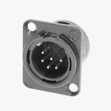 Neutrik NC6MD-L-BAG-1 XLR 6 Pin Male, Panel Mount - Solder - Black/Silver 1130