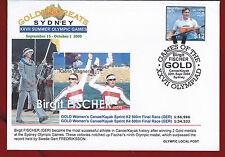 Australia 2000 Sydney Olympic, Local Post, Brigit Fischer, $12, Kayak, Stamp