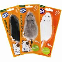 Wind Up Mouse Cat Toy Pet Play Exercise Running Kitten Grey White Black