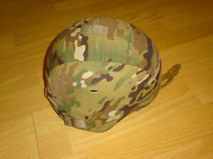 US ARMY ACH HELMET MICH ARMOR MULTICAM LARGE OCP SPECIAL FORCES SCORPION FLAG c