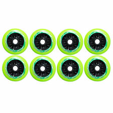 110mm Inline Roller Skate Wheels (set of 8 wheels) NEW HUB!