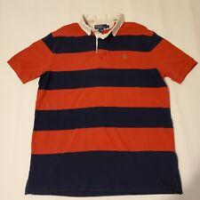 New listing VTG Ralph Lauren Polo Red Blue Stripe Rugby S/S Shirt Men's Large Kayak Canoe
