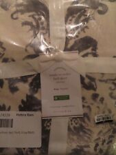 Pottery Barn THEA PRINT BED SKIRT-KING SIZE-GRAY MULTI-NWT