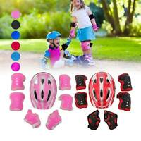 7Pcs/Set kids skate cycling bike safety helmet knee elbow pad guard Boys Girls