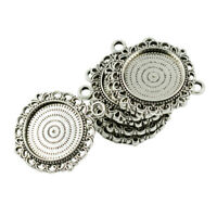 10pcs Pendants Blanks Base Round Cabochon Settings Tray for DIY Jewelry 20mm