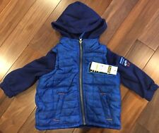 iXtreme Puffer Jacket Toddler Boys Winter Spring Hooded Size 24months Blue Black