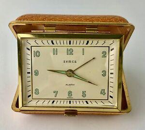 Vintage Semca Portable Alarm Clock Germany 1959