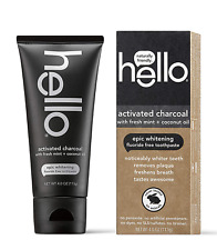 Hello Oral Care Activated Charcoal Teeth Whitening Fluoride Free and SLS Free To
