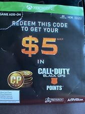 CALL OF DUTY Black Ops Code $5 In Points Add On Only! 1 CODE USED PER ACCOUNT