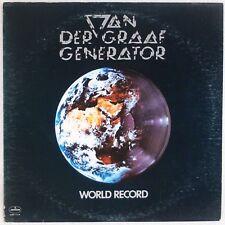 VAN DER GRAAF GENERATOR: World Record USA Mercury 1st Press Prog Rock Vinyl LP
