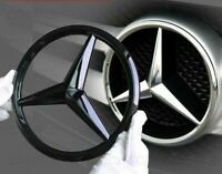 Mercedes Gloss Black Front Grille Star Badge Cover GLC GLE GLS Class 21cm