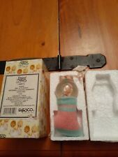 Precious Moments Enesco Girl w/Bunny-2001 waterball hanging ornament in box .