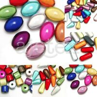Acrylic Miracle Beads Spacer 3D Illusion Cylinder/Teardrop/Oval/Capsule Mixed