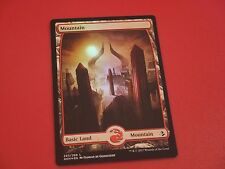 MTG MAGIC AMONKHET FULL ART MOUNTAIN (ENGLISH MONTAGNE) NM FOIL