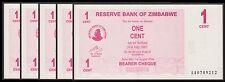 TWN - ZIMBABWE 33 - 1 Cent 1.8.2006 UNC Pr. AA Dealers x 5